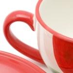 Tea cup and saucer close up — Stock Photo