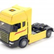 Yellow truck on white — Stock Photo #1838097