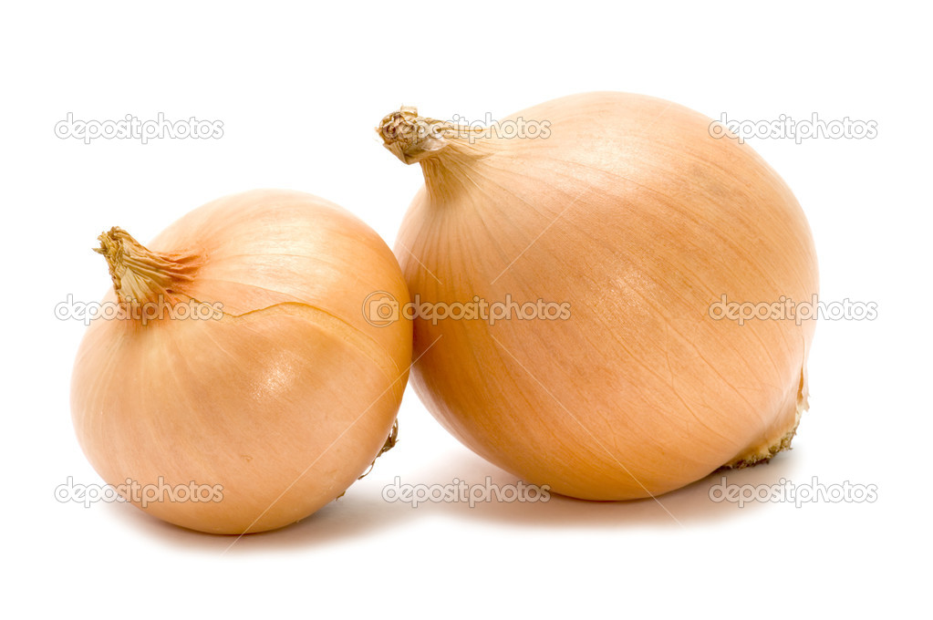 Object on white food - bulb onion — Stock Photo #1836718