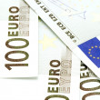 Stock Photo: Bank note hundred Euro