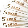 Stock Photo: Bank note five Euro