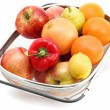 Big sieve with fruit close up — Stock Photo #1842453