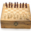 Chess board on white background — Stock Photo