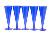 Blue goblet on white — Stock Photo