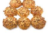 Baking bun with walnut — Stock Photo