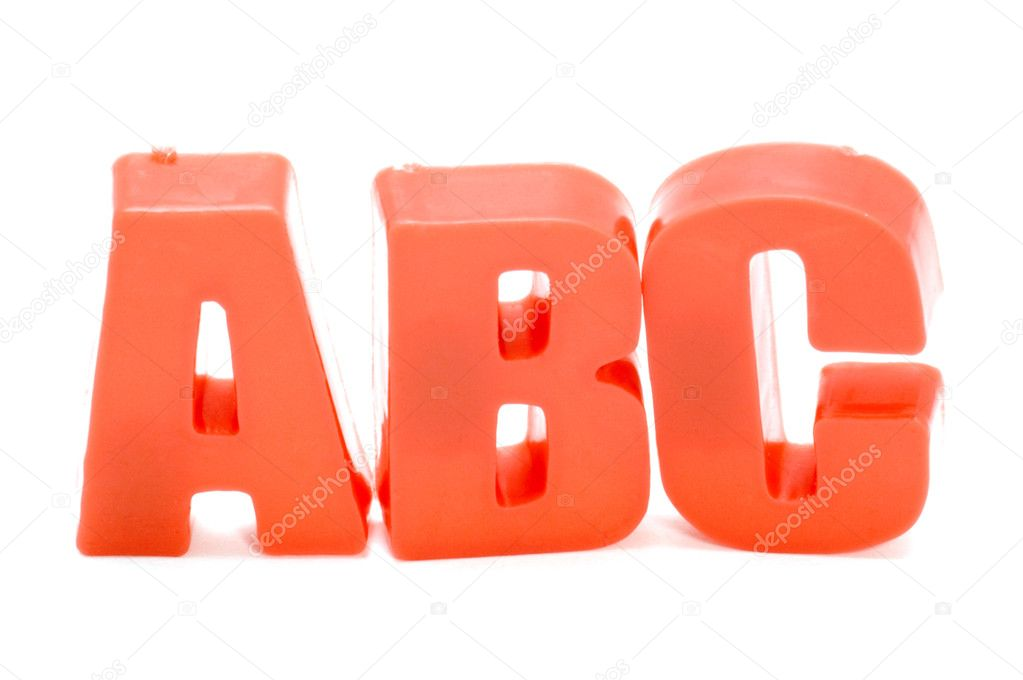 Object on white - toy plastic letter — Stock Photo #1840400