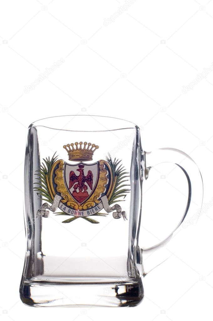 Object on white - kitchen utensil glass beer mug — Stock Photo #1842218