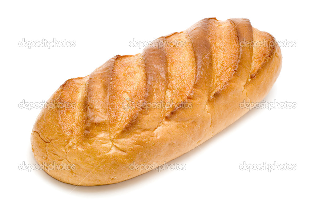 Object on white food - white bread stick  Stock Photo #1843259