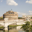 Stock Photo: Bridge and Castle Sant Angelo