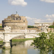 Stock Photo: Castle Saint Angelo in Rome city
