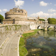 Castle St Angelo in Rome — Stock Photo