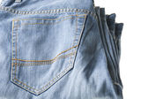 Blue jeans close up — Stock Photo