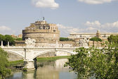 Castle Saint Angelo in Rome city — Stok fotoğraf