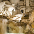 Fountain trevi close up - Stock Photo