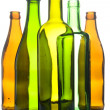 Photo: Glass bottle on white background