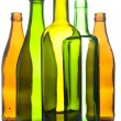 Stock Photo: Glass bottle on white background