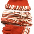 Gloves and muffler — Stock Photo