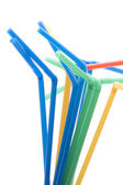 Drinking straws on white — Stock Photo
