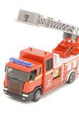 Fire engine closeup on white — Foto de Stock