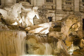 Fountain trevi close up — Stock Photo