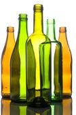 Beyaz zemin üzerine cam şişe — Stok fotoğraf