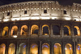 Italy Coliseum in the night close up — Stock Photo