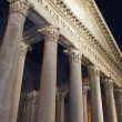 图库照片: Pantheon facade in Rome Italy
