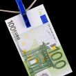Stock Photo: Paper currency euro closeup