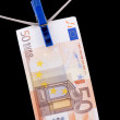 Stock Photo: Paper currency euro