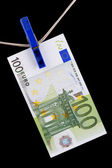 Paper currency euro closeup — Stock Photo