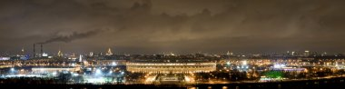 Panorama of Moscow in night