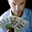 Portrait man with money — Stock Photo #1885762