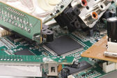 Printed wiring macro — Stock Photo