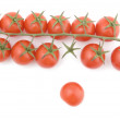 Raw tomato on white close up — Photo