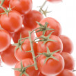 Red tomato on white — Stock Photo