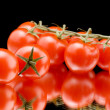 Ripe tomato closeup — Stock Photo