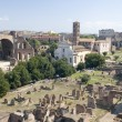 Stock Photo: Roman forum and coliseum