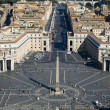 Rome St. Peter Square — Stock Photo