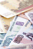 Russian paper currency macro — Stock Photo