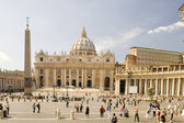 在罗马圣彼得大教堂 — 图库照片