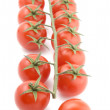 Tomato on white close up - Stock Photo