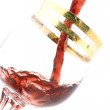 Wineglass with wine closeup — Stock Photo