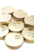 Cerrar la lata con alimentos enlatados — Foto de Stock