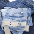 Jeans on white background — Stock Photo