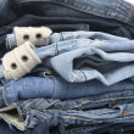 Jeans on white closeup — Stock Photo #2318039