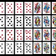 Stock Photo: Set of playing card close up
