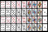 Set di carte da gioco da vicino — Foto Stock
