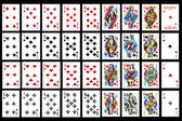 Set of playing card close up — Foto Stock