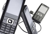 Set mobile phone — Stock Photo