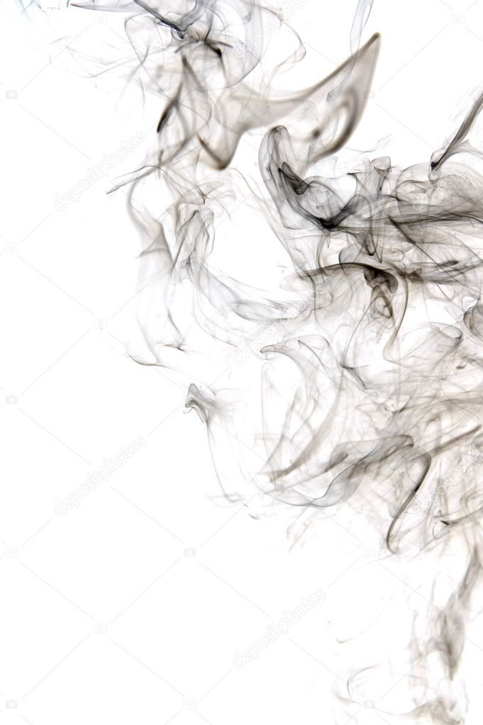 Object on white - abstract Smoke close up  Stock Photo #2337875